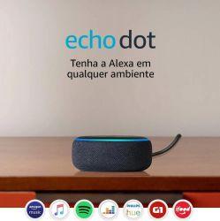 Alexa Echo Dot 3ª Geração cor Preta